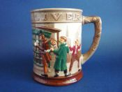 Superb Royal Doulton Dickens Series G 'Oliver Twist' Tankard in Relief D6286 c1949